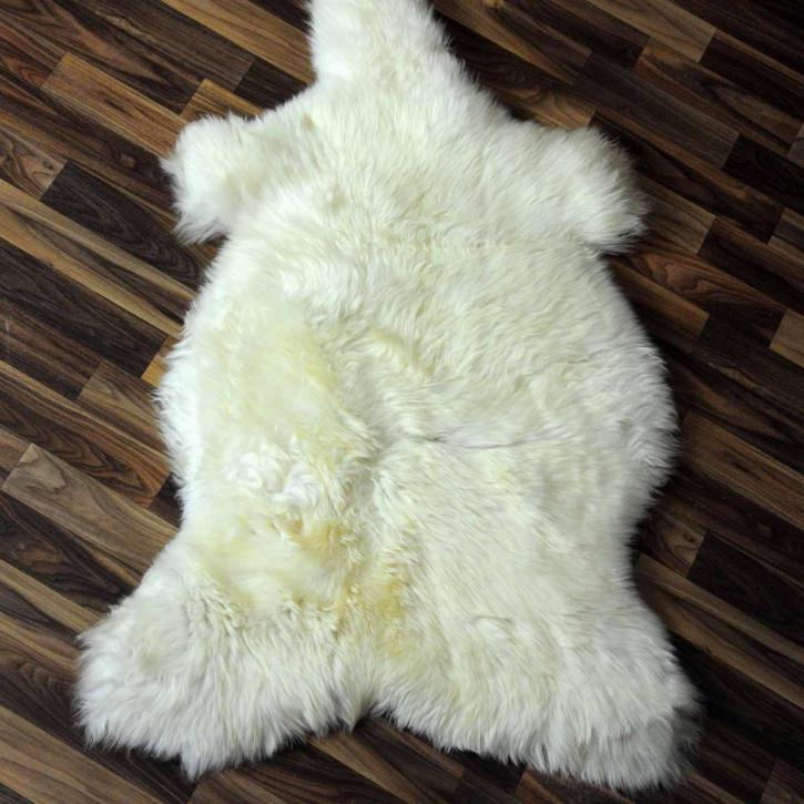 XXL ÖKO Schaffell Fell creme weiß 120x80 sheepskin #2087