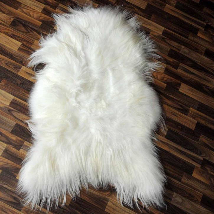 ÖKO Island Schaffell schwarz braun geflammt 105x70 #2451