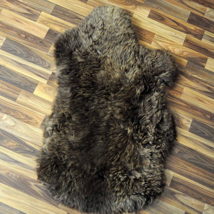 XXL ÖKO Island Schaffell schwarzbraun graun 115x85 #2692
