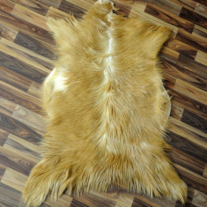 XXL ÖKO Schaffell weiß braun geflammt 120x70 #2735