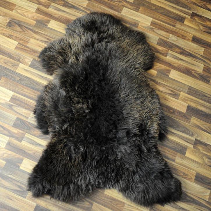 XXL ÖKO Schaffell Fell creme weiß braun 120x80 Auflage #2861