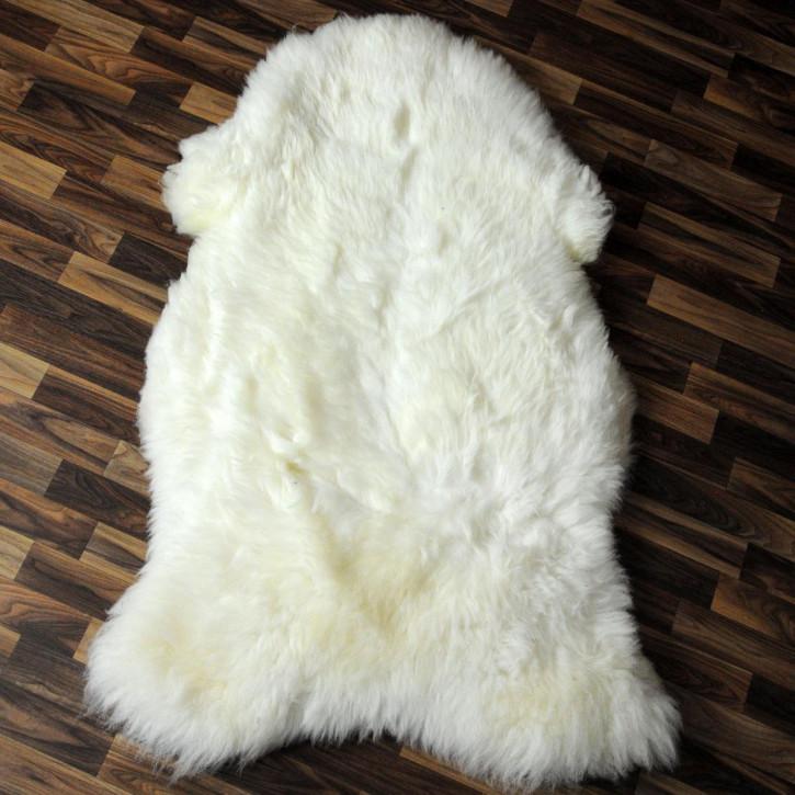 XL ÖKO Schaffell Lammfell sheep braun 110 x 70-80 cm