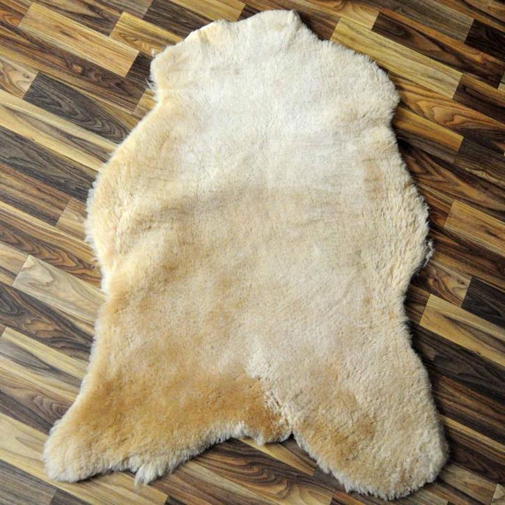 XL ÖKO Island Schaffell schwarzbraun weiß 115x70 #2953