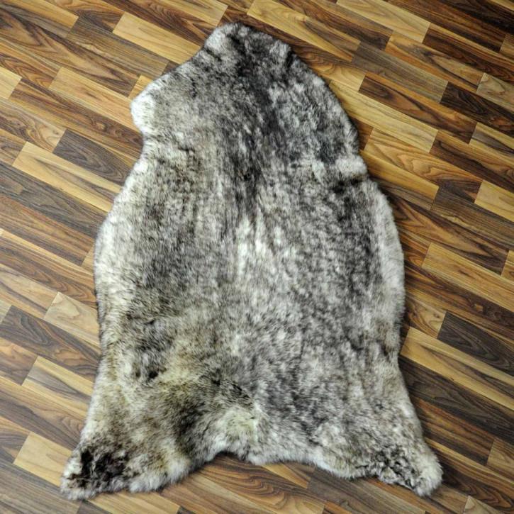XL ÖKO Island Schaffell schwarzbraun weiß 115x70 #2955