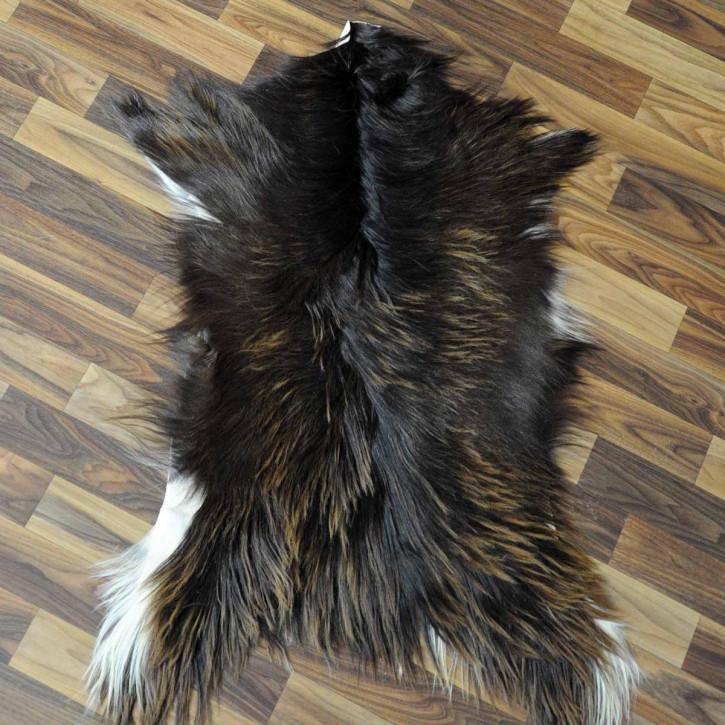 XXL ÖKO Island Schaffell schwarzbraun 120x70 #3017