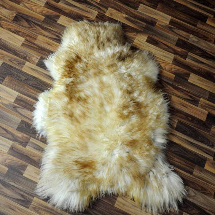 XL ÖKO Schaffell Fell braun 115x70 Braunbär Teppich #3048
