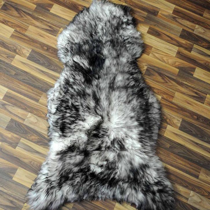 XXL Island Schaffell grau schwarz geflammt 120x70 #3051