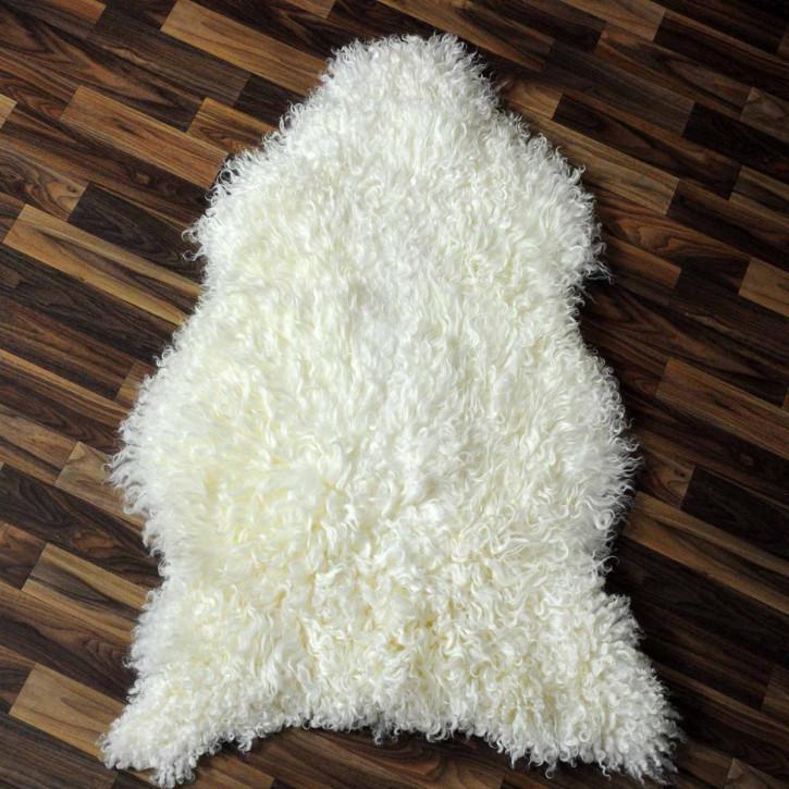 XXXL ÖKO Schaffell Fell creme weiß 140x80 sheepskin #3420