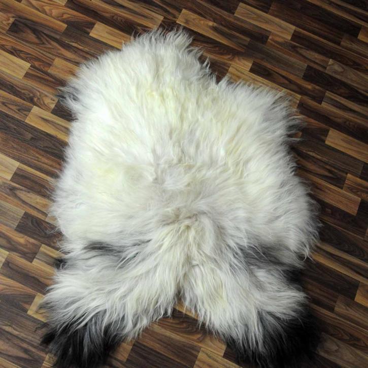 XL ÖKO Island Schaffell schwarzbraun weiß 110x65 #3449