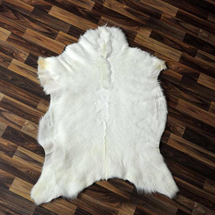 XXXL Schaffell Fell creme weiß 135x85 Auflage Teppich #3489