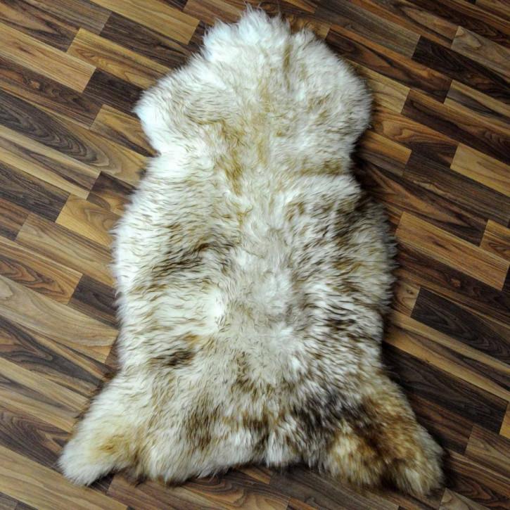 XXXL Schaffell Fell creme weiß 130x80 Couch Stuhl Auflage #3508