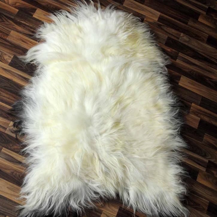 XXXL Schaffell Fell creme weiß 130x75 Couch Stuhl Auflage #3516