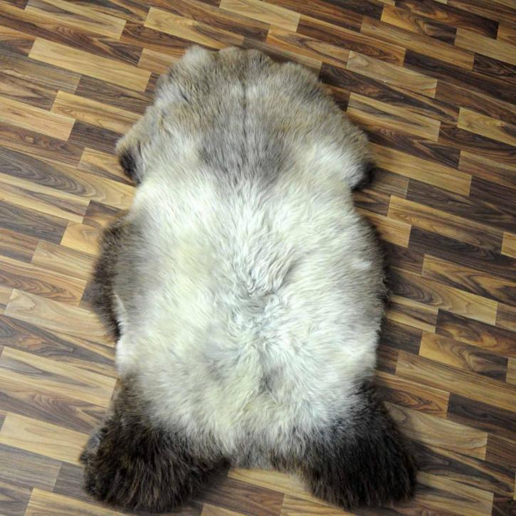 XXXL Schaffell Fell creme weiß 130x85 Couch Stuhl Auflage #3609