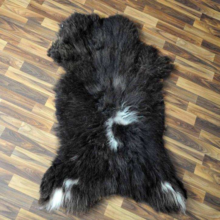 XXXL Schaffell Fell creme weiß braun 135x80 Couch Stuhl Auflage #3613