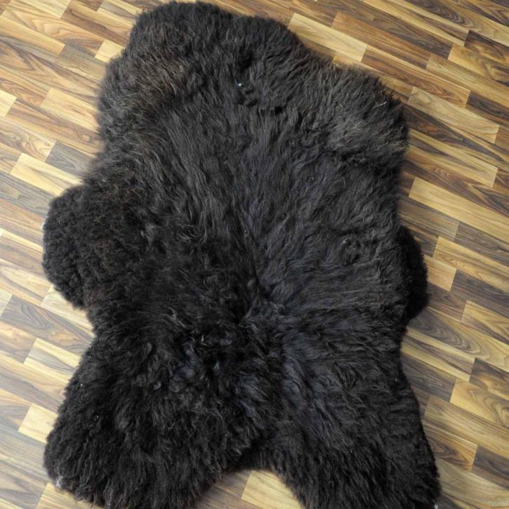 XXL Schaffell Fell creme weiß 120x75 Stuhl Couch Auflage #3628