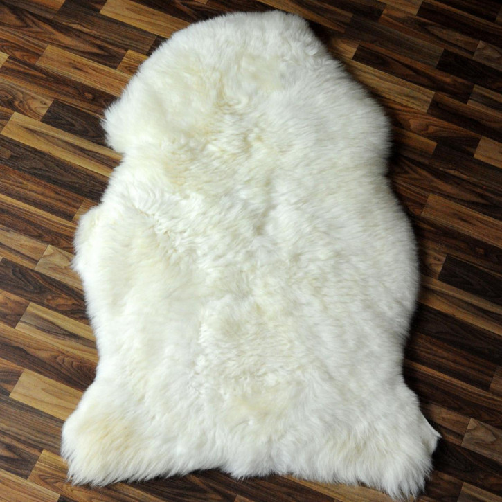 XL Schaffell Fell creme weiß braun 115x70 Stuhl Couch Auflage #3633