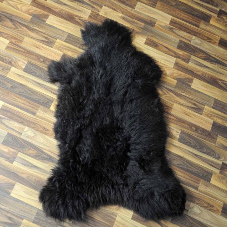 XL ÖKO Island Schaffell schwarzbraun weiß 115x70 #3662