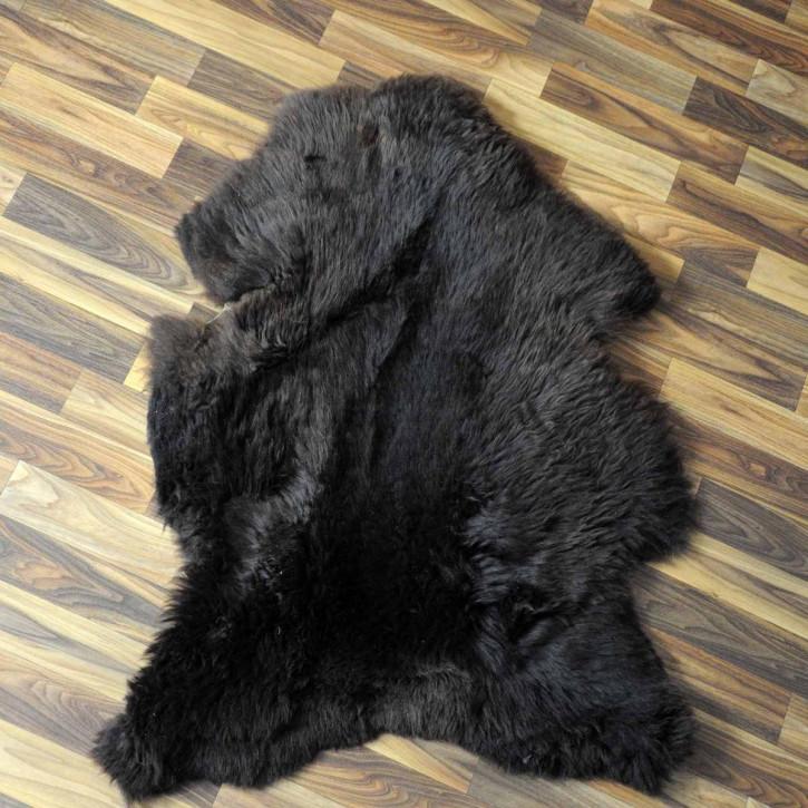 XXL ÖKO Island Schaffell schwarzbraun weiß 120x75 #3663