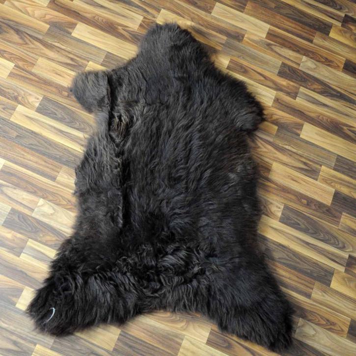 XL ÖKO Island Schaffell schwarzbraun weiß 115x75 #3666