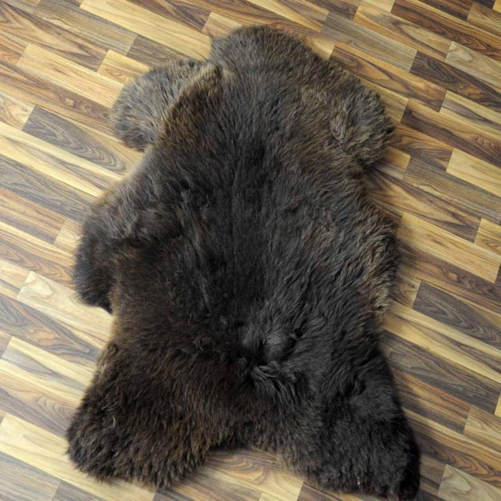 XXL ÖKO Island Schaffell schwarzbraun weiß 120x75 #3669