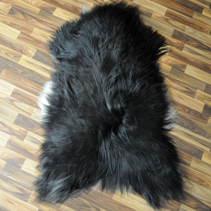 XL ÖKO Island Schaffell schwarzbraun 115x75 #3670