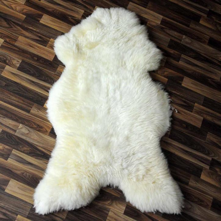 XL Schaffell Fell creme weiß 115x65 Stuhl Couch Auflage #3777