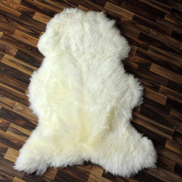 XL Schaffell Fell creme weiß 110x65 Auflage Teppich #3778