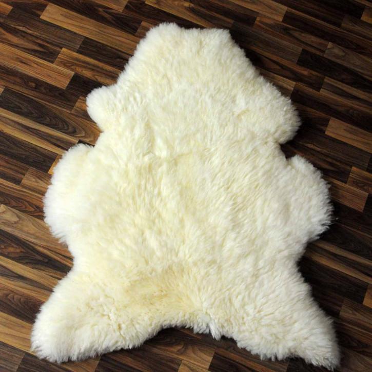 Schaffell Fell creme weiß 90x55 Auflage Teppich #3779