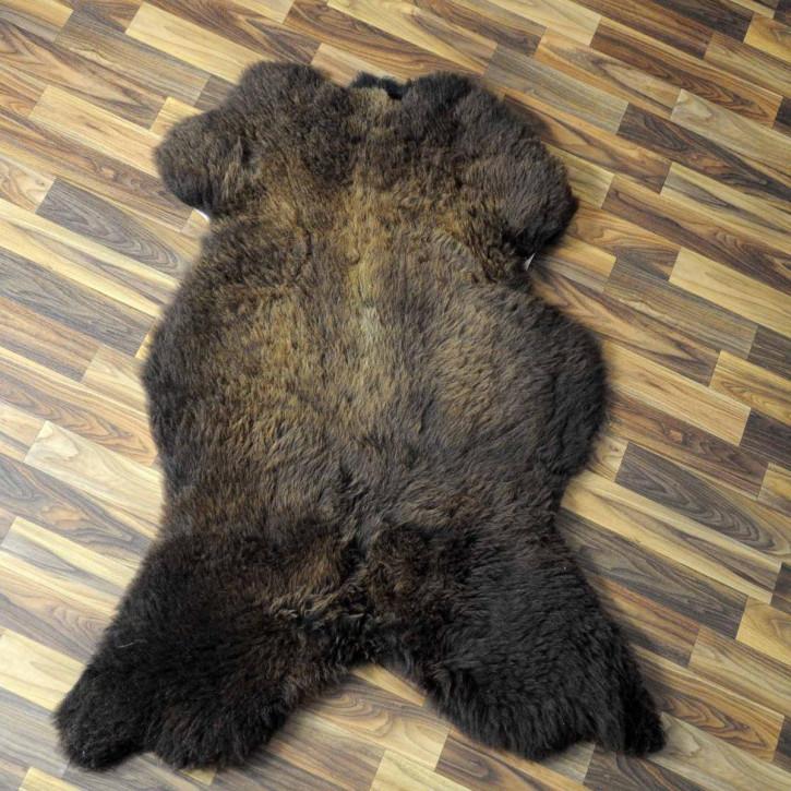 XXL Schaffell Fell weiß braun geflammt 125x80 Auflage Teppich #3955