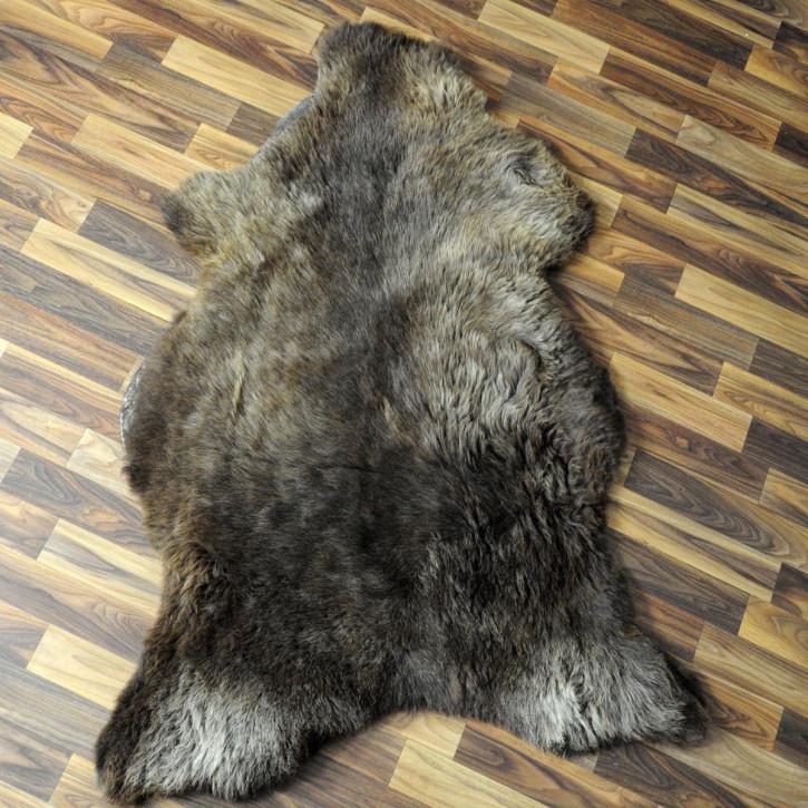 XXL Schaffell Fell weiß braun geflammt 125x80 Auflage Teppich #4017