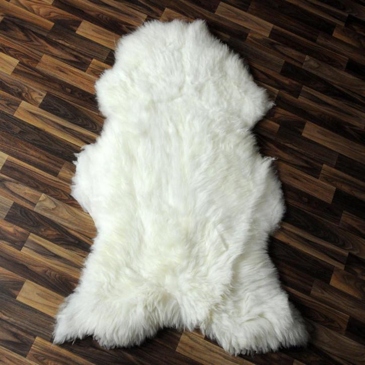 XL ÖKO Schaffell Fell Lammfell braun grau 110x75 Teppich #4076