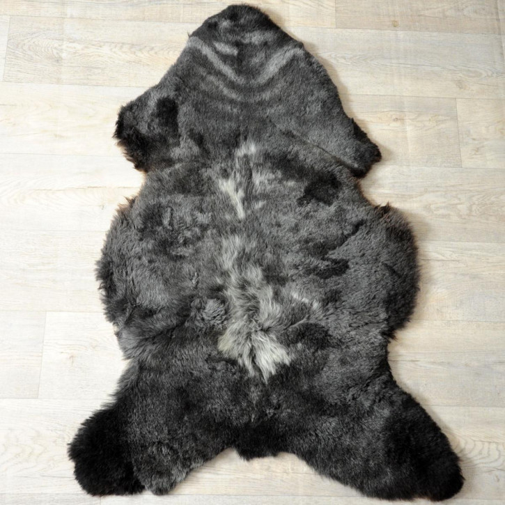 XL ÖKO Schaffell Fell braun grau 115x80 Auflage Teppich #4079