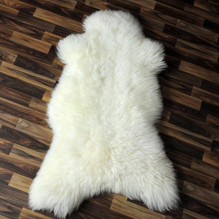 XL ÖKO Schaffell Fell Lammfell braun grau 115x75 Teppich #4111