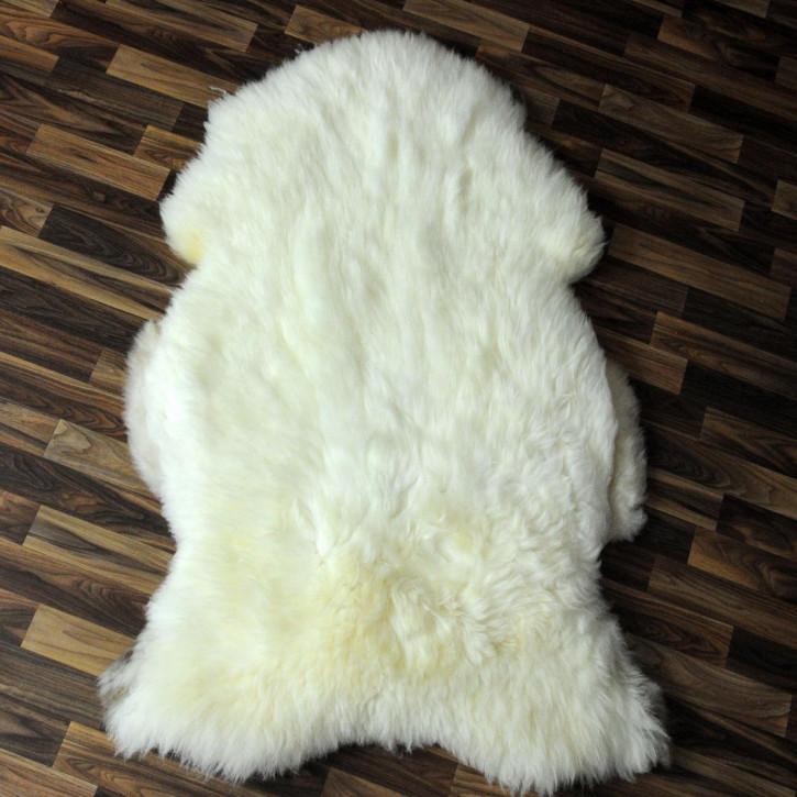 XL ÖKO Schaffell Fell Lammfell beige braun 115x70 Teppich #4144