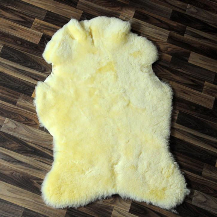 XL Island Schaffell schwarzbraun 110x75 Auflage Deko #4170