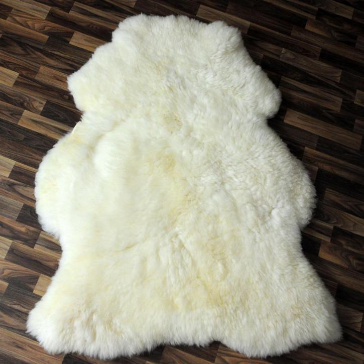 XL Island Schaffell schwarzbraun 115x75 Auflage Deko #4187