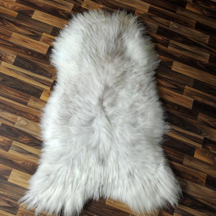 XL ÖKO Schaffell Fell Lammfell beige braun 115x80 Teppich #4241