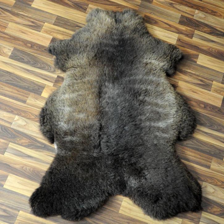 XL Schaffell Fell weiß braun geflammt 115x70 Auflage Teppich #4312