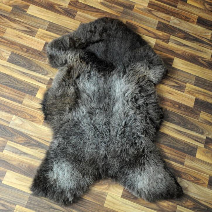 XXL ÖKO Schaffell Fell creme weiß braun 125x85 Auflage geschoren #4357