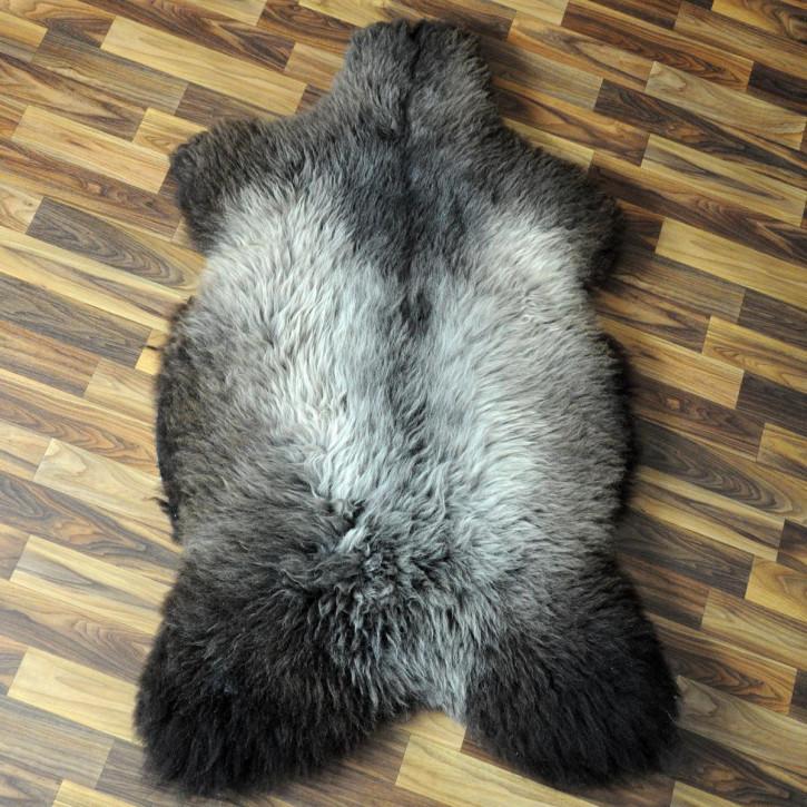 XL ÖKO Schaffell Fell creme weiß braun 115x90 Auflage geschoren #4358