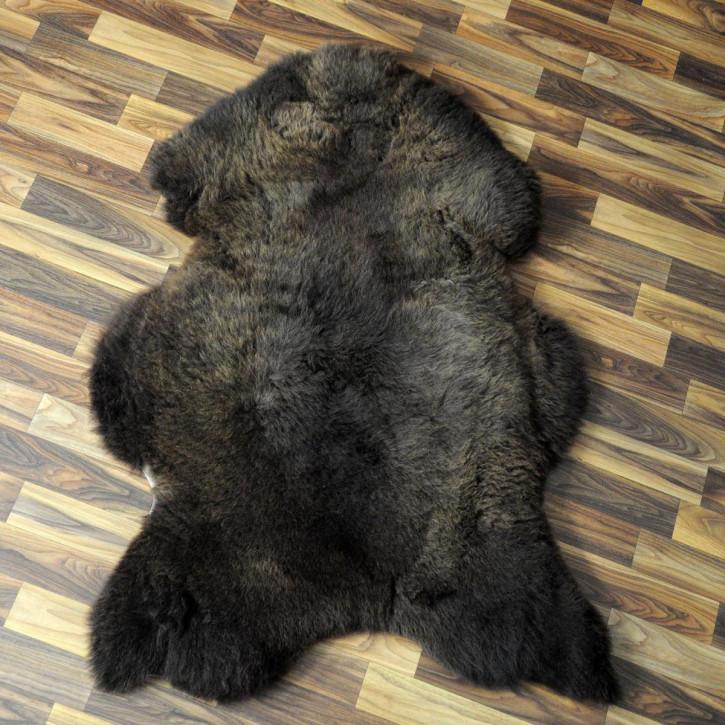 XXL ÖKO Schaffell Fell creme weiß braun 120x80 Auflage geschoren #4370
