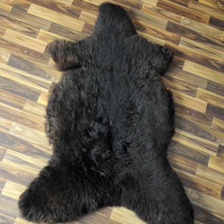 XL ÖKO Schaffell Fell creme weiß braun 115x85 Auflage geschoren #4371