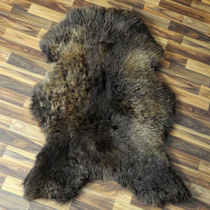 XXL ÖKO Schaffell Fell creme weiß braun 125x80 Auflage geschoren #4372