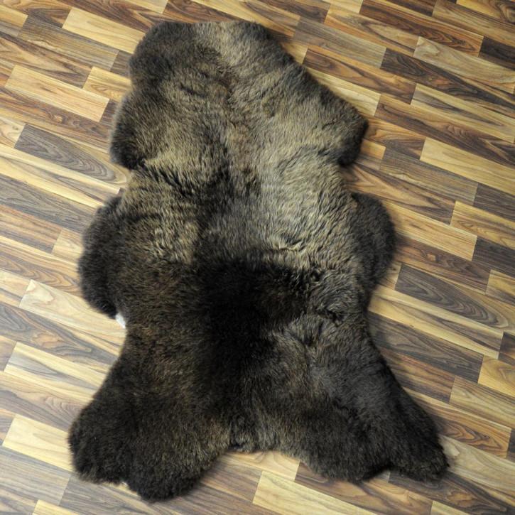 XXL ÖKO Schaffell Fell creme weiß braun 125x85 Auflage geschoren #4373