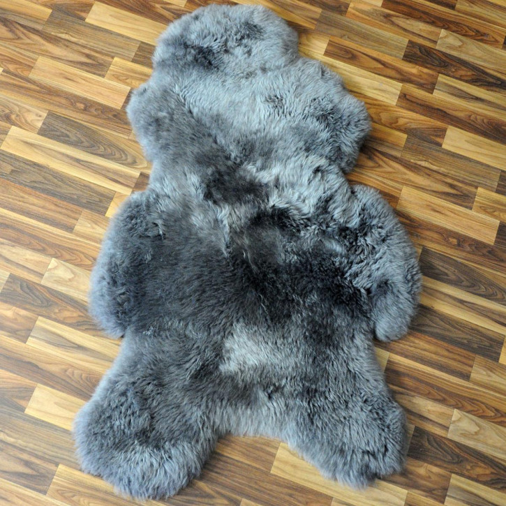 XL Schaffell Fell dunkel grau 115x70 Auflage gefärbt #4375