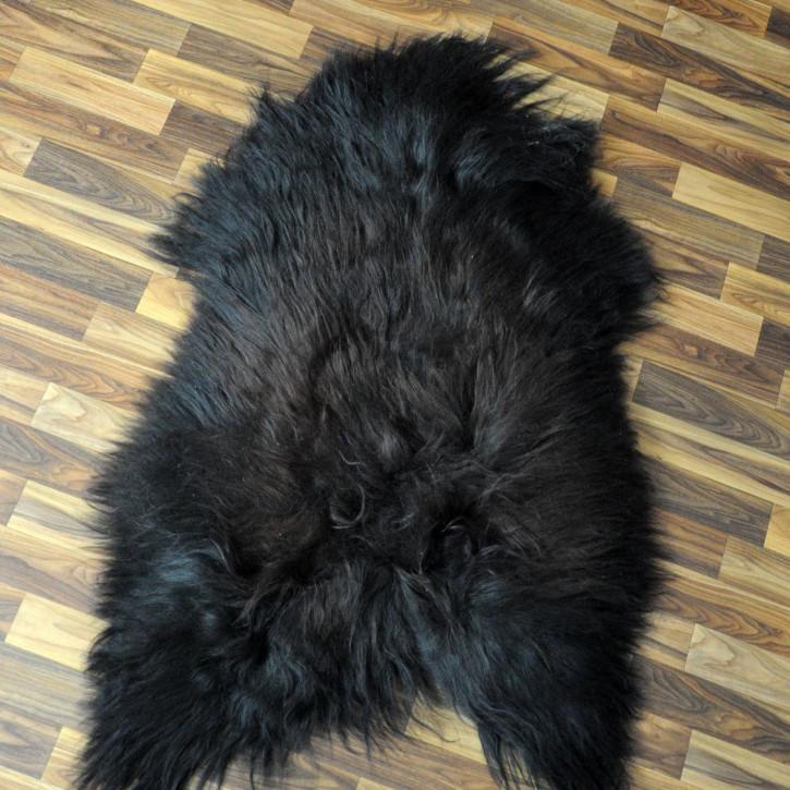 XL Island Schaffell grau schwarz geflammt 110x70 #4443