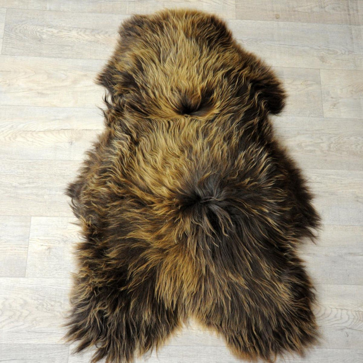 XL ÖKO Island Schaffell Lammfell natur braun 115x75 #4471