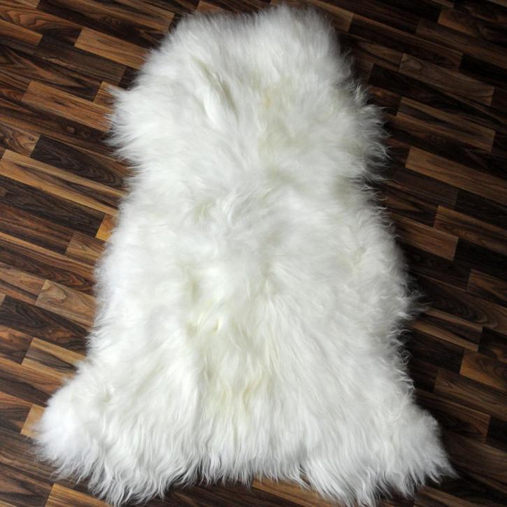 XL Island Schaffell Lammfell schwarzbraun beige 115x75 Auflage #4632