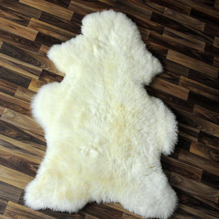 XL ÖKO Schaffell Fell Lammfell braun grau 110x70 Teppich #4739