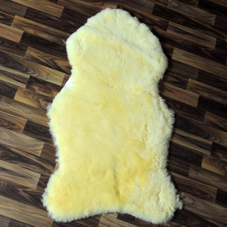 XL ÖKO Schaffell Fell Lammfell beige braun 110x70 #4813